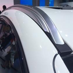 Dla BMW X6 F16 2015-2018 bagażnik dachowy szyny bary bagażnik bary topowe regały Rail pudełka ze stopu aluminium