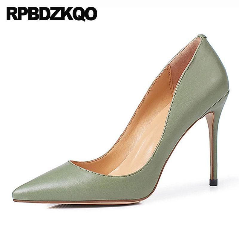 33 Pompes 10 green Haute Noir Pour 7cm Véritable Taille Super black 2cm Pointu Ultra Stiletto 2cm 34 Vert Femmes 4 Main Talons 8 Extrême Chaussures apricot 7cm 8 Cuir 8 Apricot 10 Bout 7cm green FqHHwIxnvX