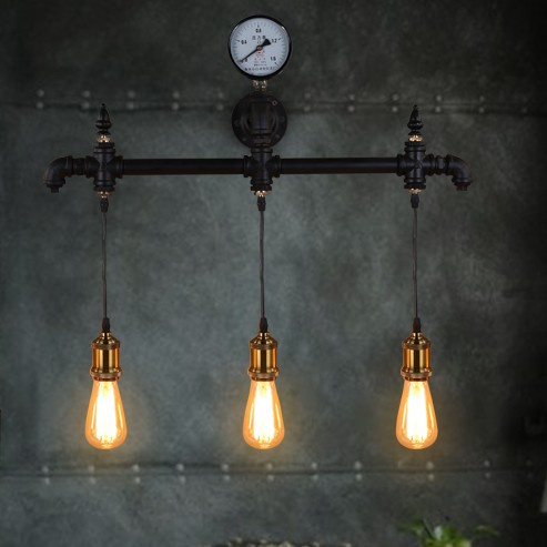 Nordic Loft Style Industrial Water Pipe Lamp Vintage Wall Light For Home Antique Bedside Edison Wall Sconce Indoor Lighting