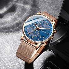 Men Watch 30m Waterproof Mens Watches Top Brand Luxury Steel Watch Chronograph Male Clock Rose gold Saat relojes hombre GRMONTRE(China)