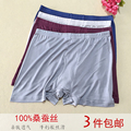 High-end Men's Pants 100% Silk Underwear Men's Export Silk Four Silk Knitted Shorts Pants Angle