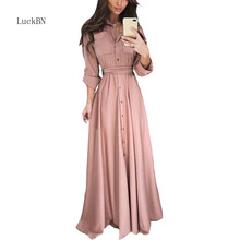 S-5XL Plus Size Long Maxi Dress Women Lace Up Long Sleeve Button Bodycon Dress Sexy Elegant Office Party Autumn Dresses Clothes plaid button up long sleeve dress