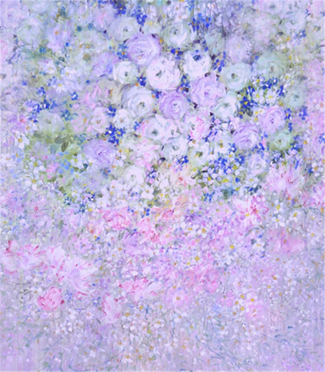 Bokeh Flowers Wedding: Hot Bokeh Colour Purple Flower Background Vinyl Cloth High