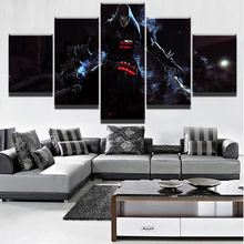 Canvas Printed Overwatch Reaper 5 Pieces Game Poster Wall Art Painting Home Decor Picture Artwork Modern Decoration Frame