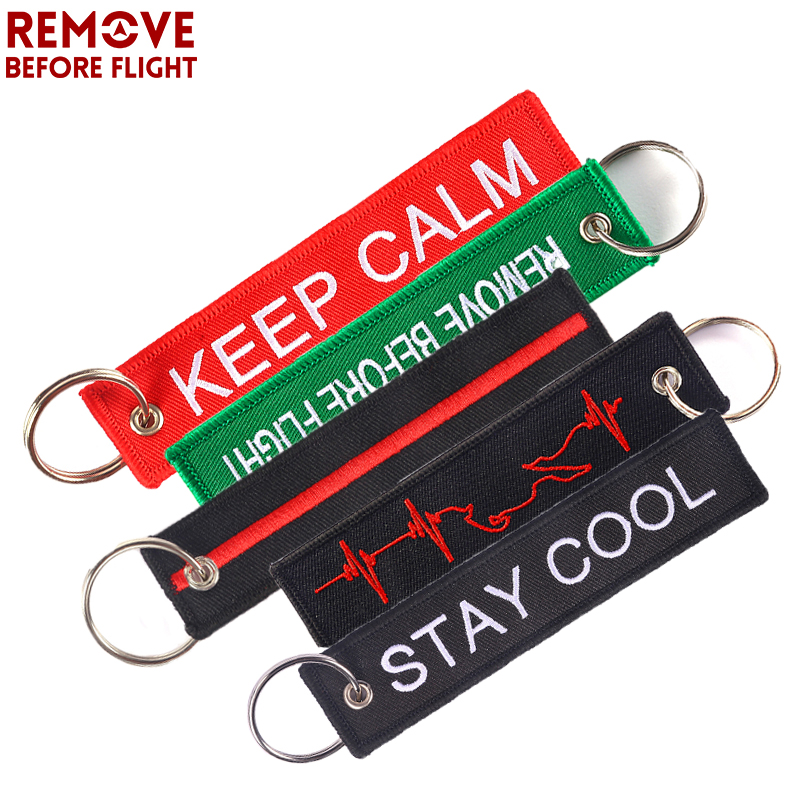 10PCS Remove Before Flight Car Keychain Embroidery for Aviation Gift Luggage Key Tag Fob Motorcycle Key Chain Chaveiro Wholesale