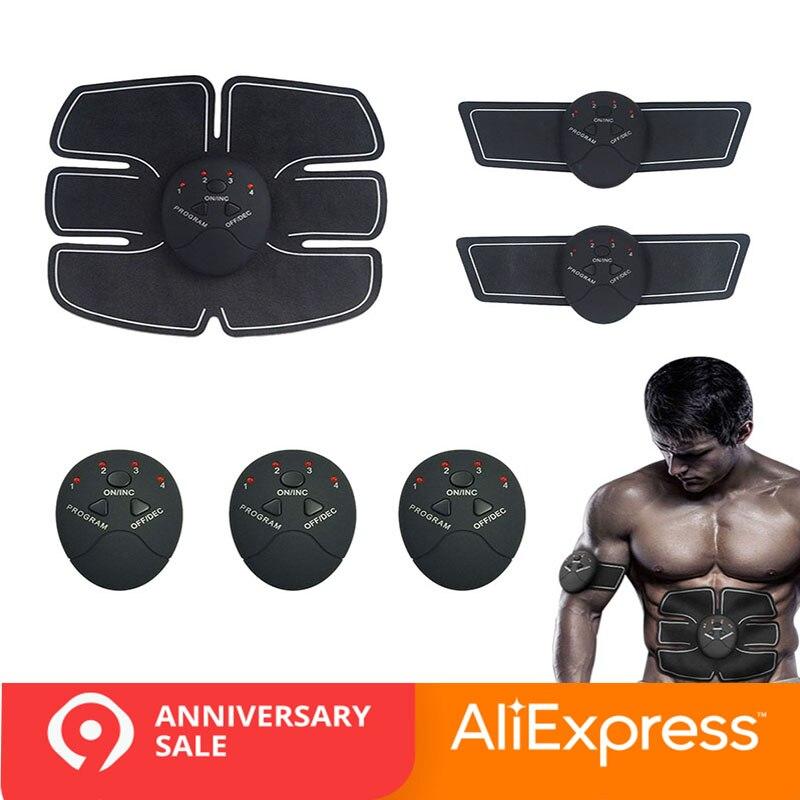 Fitness muscular Abdominal formación estimulador dispositivo inalámbrico EMS cinturón gimnasio cuerpo adelgazamiento masajeador casa ejercitador de