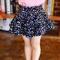 2016 Primavera Verano flor impresa Niñas Faldas de Cintura Alta de Bebé Party Girls Faldas tutu Skirt Kids Marca para 2-7 T