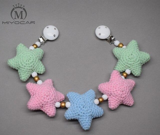 Miyocar Handgemaakte Mooie Haak Kleurrijke Sterren Speelgoed