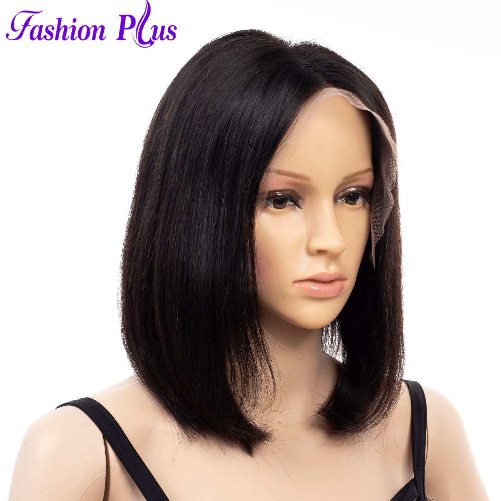 Short Free Part Full Lace Human Hair Bob Wigs For Black Women Full And Thick Remy Brazilian Hair Glueless Wigs Free Shipping