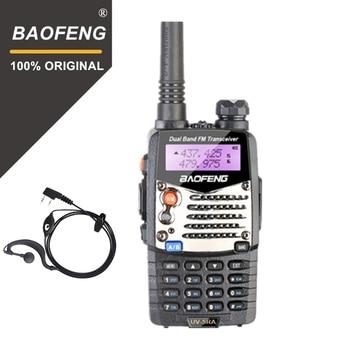 De Baofeng UV-5RA Walkie Talkie 5W de alta potencia de banda Dual de mano Radio amateur bidireccional UHF/VHF comunicador HF transceptor de seguridad de uso