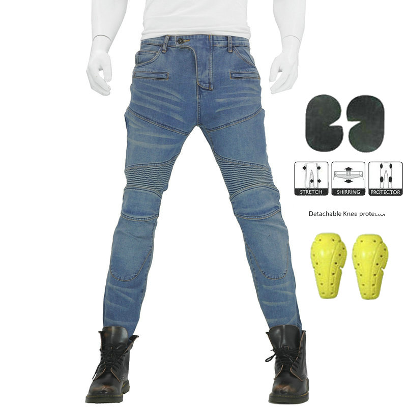 2019 Komine Motorcycle PK718 Jeans Leisure Motorcycle Mens Off-road Outdoor Jean/cycling Pants With Protect Equipment2019 Komine Motorcycle PK718 Jeans Leisure Motorcycle Mens Off-road Outdoor Jean/cycling Pants With Protect Equipment