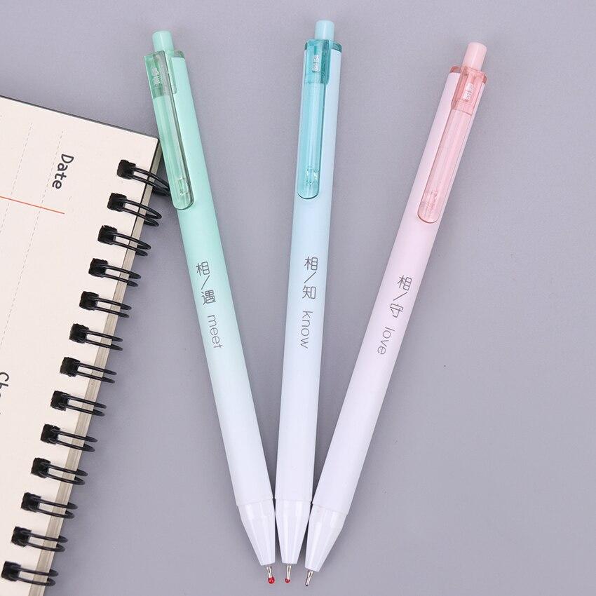 1PC Ballpoint Pen Fashion Creative 0.7MM Press Pen For Writing Stationery Office School Pen Ballpen Blue Refill OG-5977