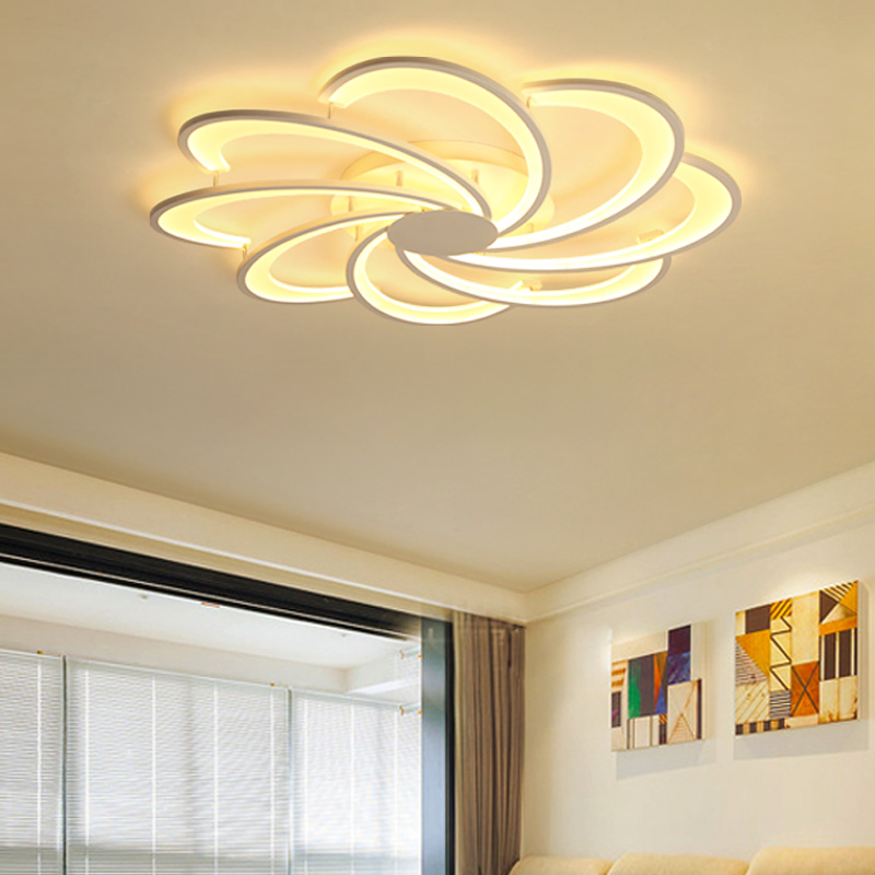 Ceiling Lights Creative Flowers Led Ceiling Lights Simple Modern Led Lamps For Living Room Bedroom Luminaria De Teto Led Ceiling Light Fixtures The Latest Fashion