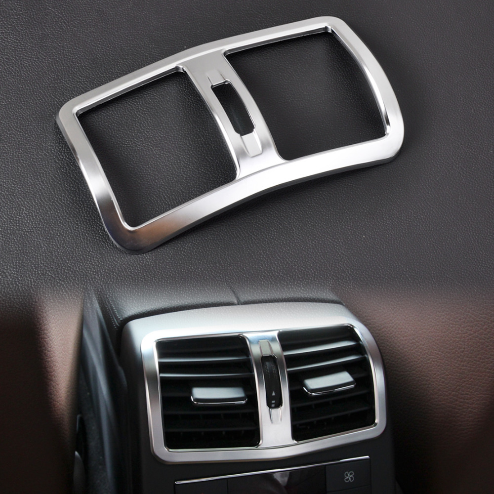 CITALL Interior Chrome Armrest Box Rear Air Condition Vent Cover Trim Air Outlet decorative for Mercedes Benz W212 E Class 2013+ dhl shipping 23pc x error free led interior light kit for mercedes for mercedes benz e class w212 e350 e400 e550 e63amg 09 15