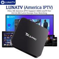 TX5PRO With 1 Year LUNATV US Canada brazil Latin IPTV Smart IPTV Set Top Box Android TV Box 2/16G Quad Core Media Player