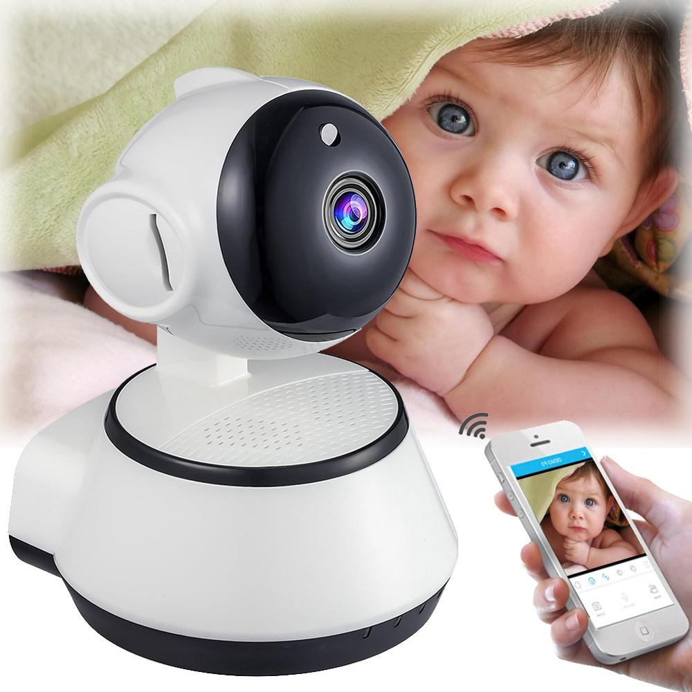 все цены на Mini HD 720P Mega pixel IP Camera WiFi Wireless Support TF Card Slot Home Security Surveillance CCTV Network IP Cam Baby Monitor онлайн