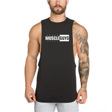 Muscleguys Brand 2018 Fitness Men Bodybuilding Tank Tops Sleeveless Gyms Clothing Singlet Cotton Shirts Summer Fashion