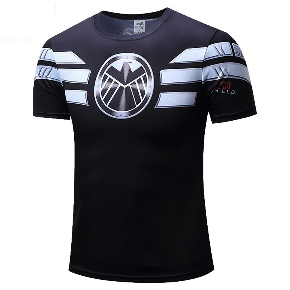 New T Shirt Captain America Shield Civil War Tee 3D Printed T-shirts Men Avengers man Fitness Clothing Male cosplay costume