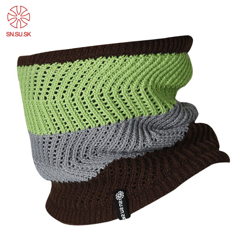 2019 Autumn Winter Outdoor Sport Male Knitted Face Mask Men Double-deck Polar Fleece Windproof Warm Neck Ski Bicycle Loop Scarf