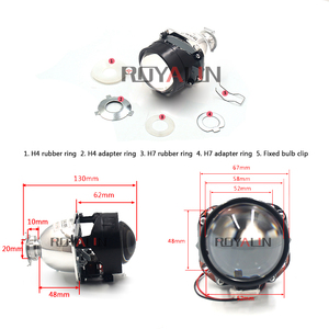 Image 3 - ROYALIN Bi Xenon HID H1 Mini Projector Lens 2.5 Auto Headlight Halogen Lens Hi/Lo Beam for H4 H7 Car Styling Bulb Retrofit DIY