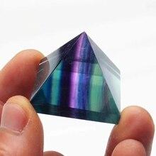 Natural crystal color quartz reiki pyramid healing energy dreamusic reiki brightness healing