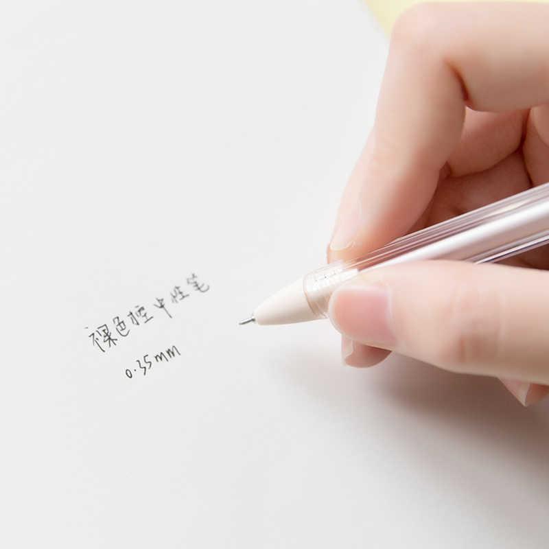 1 máy tính Đơn Giản Hàn Quốc Bút Gel 0.35mm Màu Nude Dễ Thương Trung Lập Bút Viên Đạn Tạp Chí Tiếp Liệu Kawaii Trường Cửa Hàng Văn Phòng Phẩm