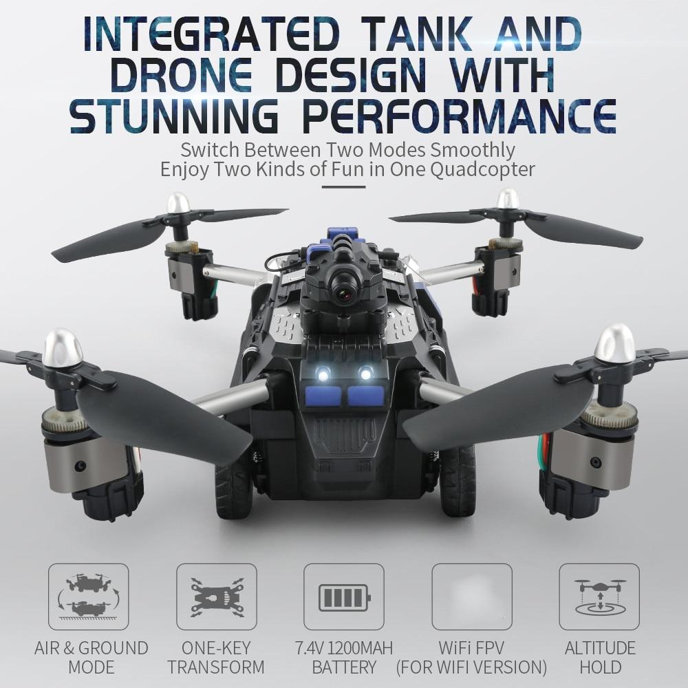 JJR/C JJRC H40WH 2 en 1 RC 2.4G 4CH 6 axes Drone avec caméra WIFI Air RC voiture volante VS X9 SY X25