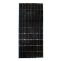 160W 12V RV Mono Monocrystalline Silicon Solar Panel Solar Module for RV Boat Home Battery Charger