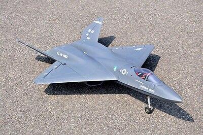 YF23 Twin 70MM EDF Jet RC RTF Plane Model Flap Metal Retracts RC Airplane Model