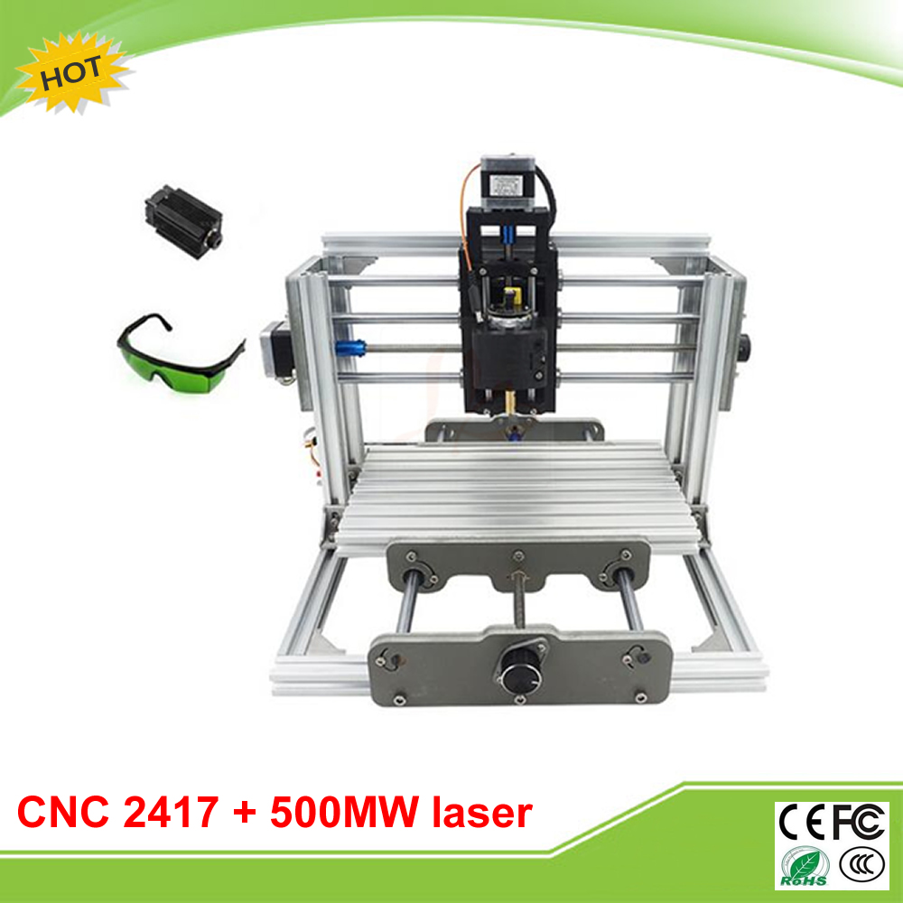 DIY mini CNC router 2417 + 500mw laser Wood Carving machine Milling Machine with GRBL control wood router mini cnc router cnc wood carving machine