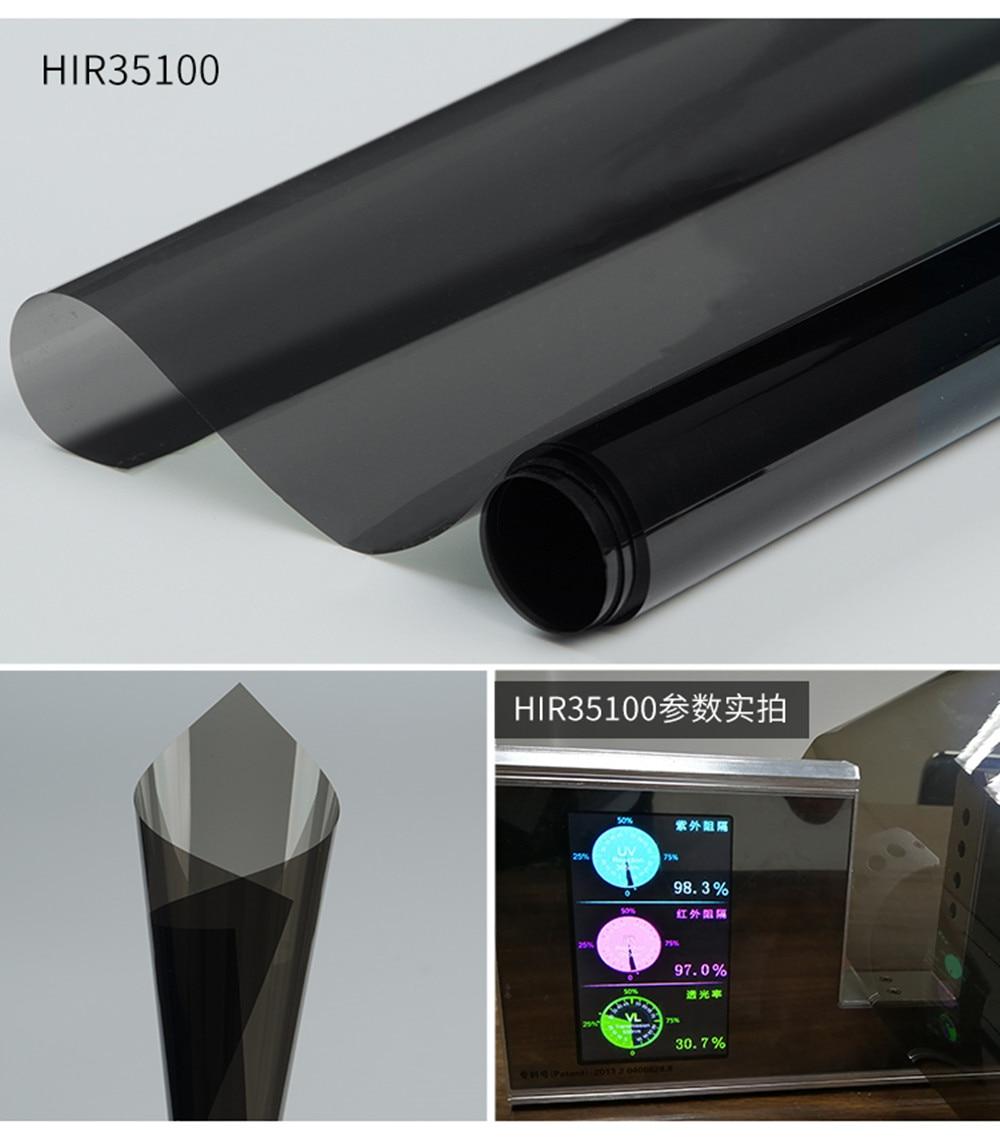 Auto Car Vehicle Window Tint 35%VLT Nano Ceramic Solar Tint Film High Heat Insulation Self Adhesive Sticker Width:50cm/20