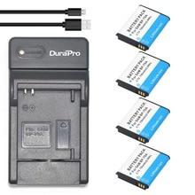 DuraPro 4Pcs BP-70A Battery + Extremely Slim USB Digital Charger for Samsung ST66 ST700 ST88 ES65 ES95 MV800 PL120 PL170 ES80 ST30
