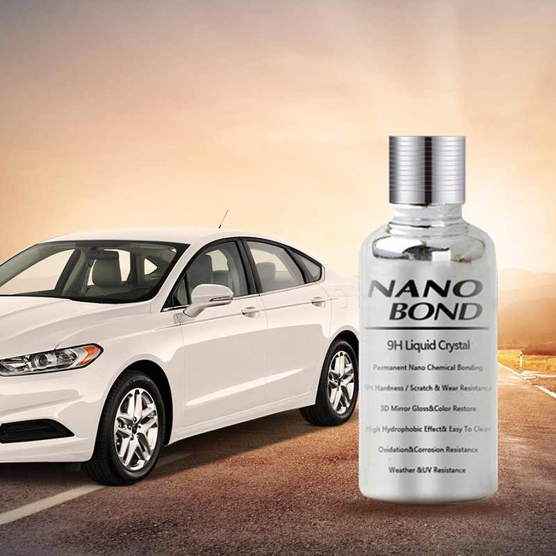 Nano Bond Ceramic Liquid Crystal Coating Car Polish Paint Care Kit 9H High Gloss Protection Super Hydrophobic Glass Coating