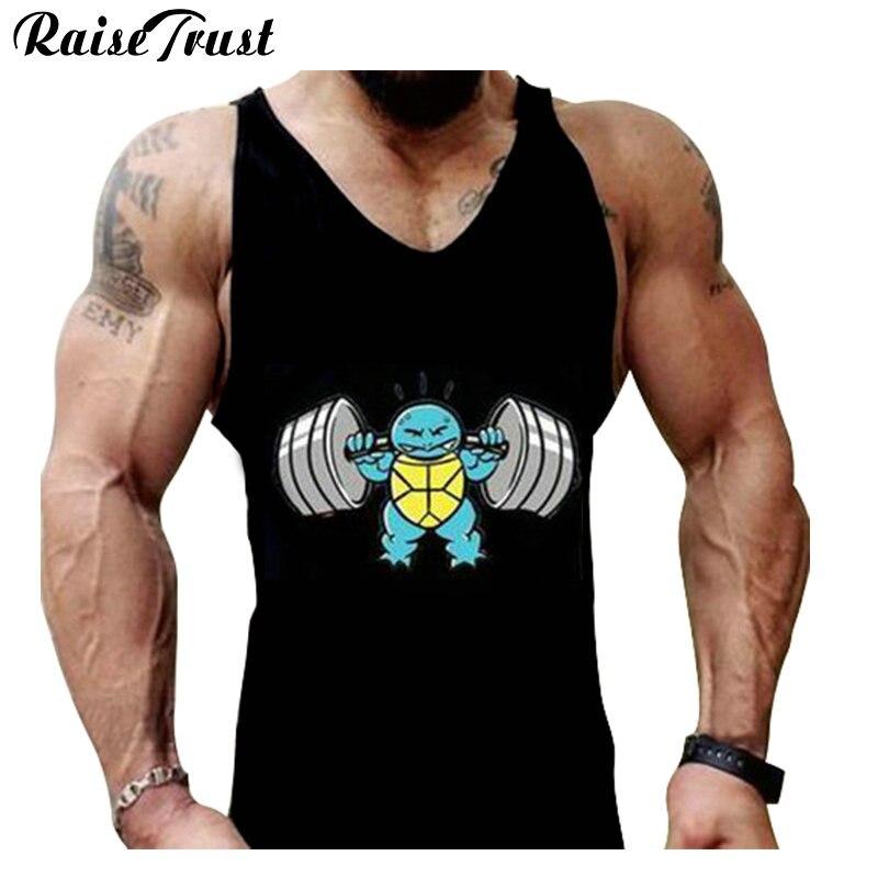 muslce vest Merk tanktops bodybuilding workout heren katoen singlets - Herenkleding - Foto 1
