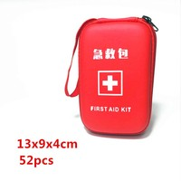 PU Waterproof First Aid Kit EVA Portable Outdoor Emergency Aid Bag With 90 High Quality Emergency