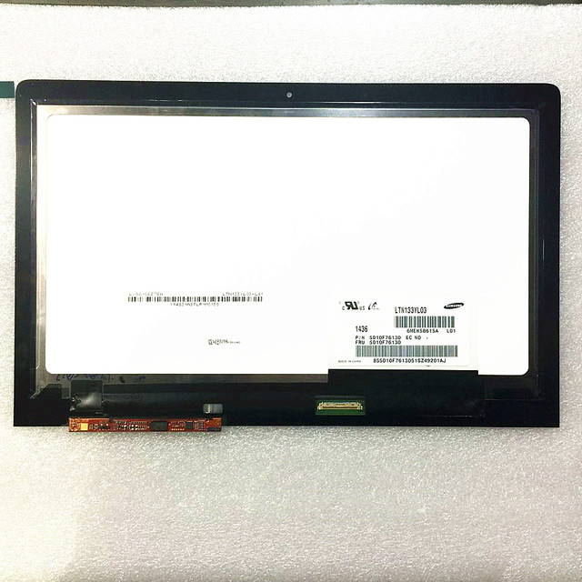 LTN133YL03-L01 Para Lenovo Yoga 3 Pro 13.3 LCD Panel de Visualización de la Pantalla Pantalla Táctil Digitalizador Asamblea Lente de Cristal Reparación de Piezas