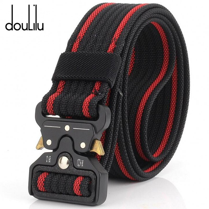 Belts For Men Military Equipment Army Aluminum Alloy Multifunction Belt Outdoor Training Tactical Girdle Sturdy 100% Nylon 3.8cm