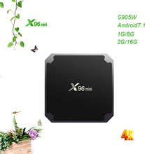 X96mini S905WAndroid 7.1 TV BOX Amlogic S905W 2GB16GB HDR 10bit Suppot 2.4GHz WiFi H.265 Media Player Box