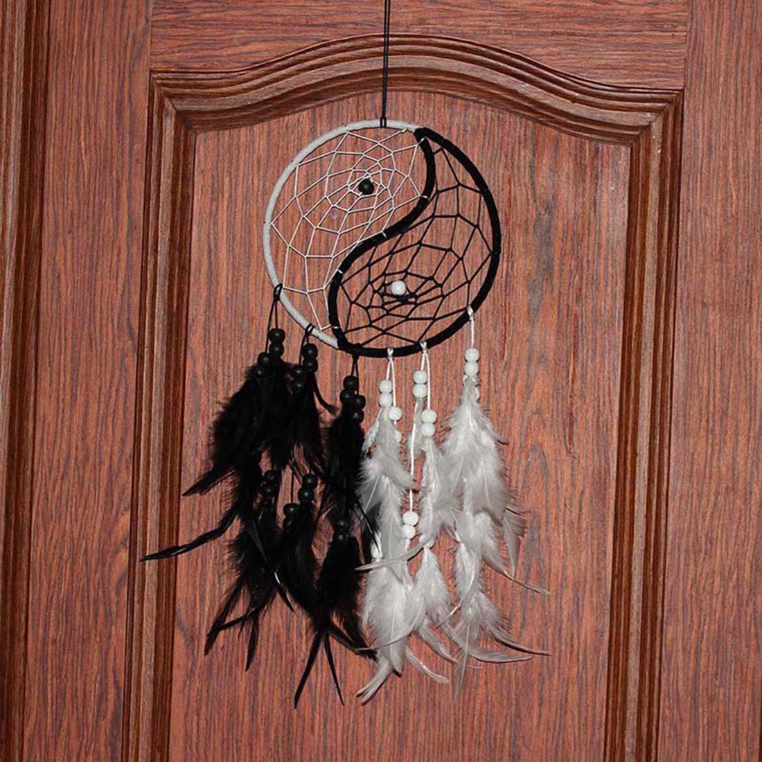 Fashion wind chimes peacock feather pendant dream catcher home decor hanging decoration - Peacock feather decorations home decor ...