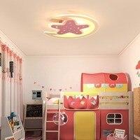 Luzes Dimmable levou lustre moderno para sala de estar quarto quarto de crianças quarto lâmpada lustre de teto superfície montado led home indoor