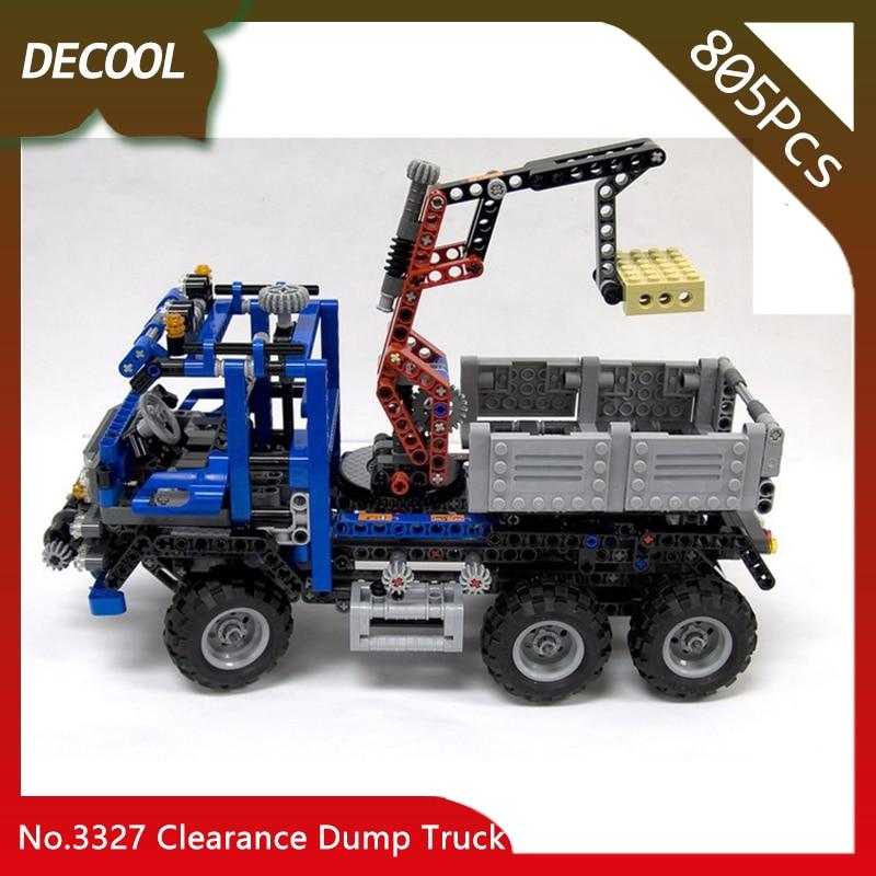 Doinbby магазин 3327 805 шт. техника оформление серии Самосвал модель строительные блоки кирпичи для детей игрушки Decool ...