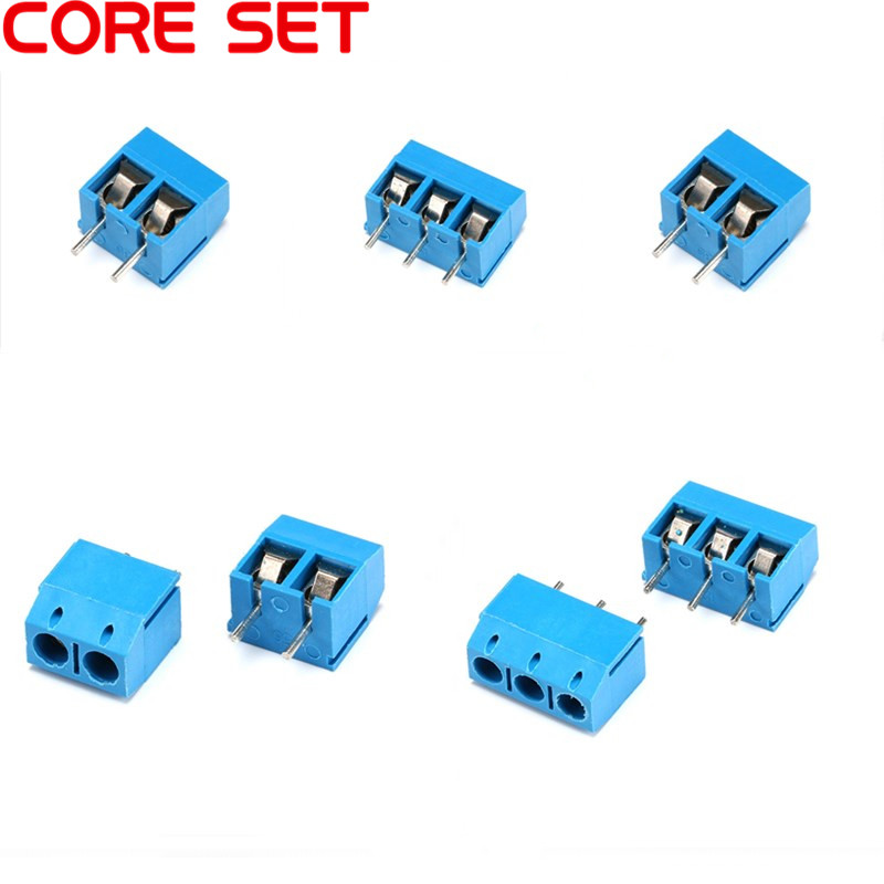 цена на 10Pcs/lot KF301-5.0-2P KF301-3P Pitch 5.0mm Straight Pin 2P 3P Pin PCB Screw Terminal Block Connector