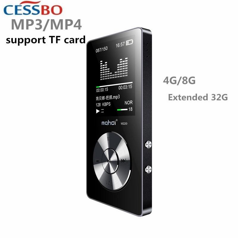 APE/FLAC/MP3/WAV/WMA/ACC/M4A/OGG lecteur MP3 de voiture Portable Support de Sport en plein air carte TF haut-parleur intégré lecteur baladeur 4G 8G