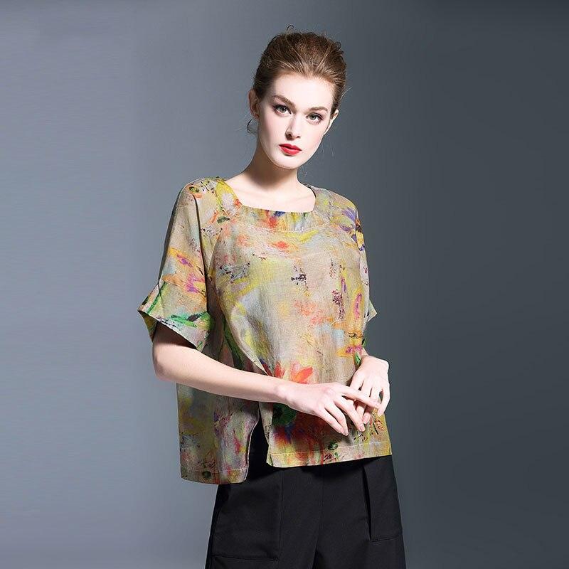 Irrégulier Nouveau Chemise Rayée Chemisier Femelle Manches Carré Printemps Femmes Mode Robes Q757 Vintage 2019 Moitié Col 6nqgaHq