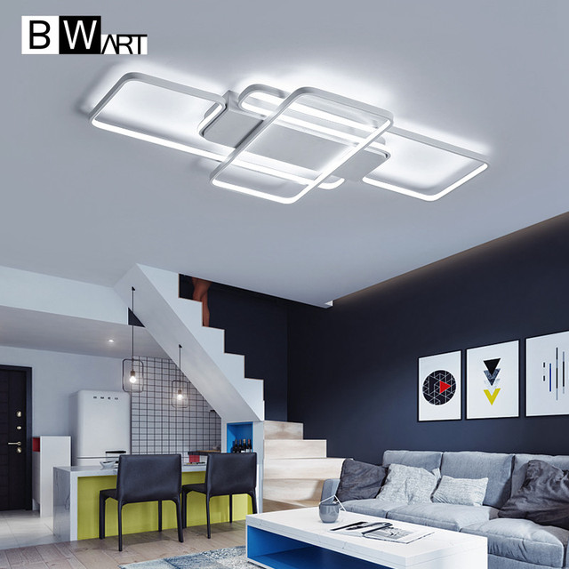 BWART modern led ceiling lights for living room bedroom dining room aluminum body Indoor ceiling lamp remote dimmable