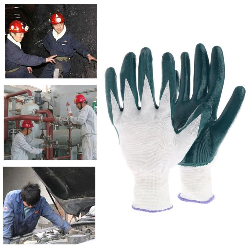 1 Pair Knitted Wrist Rubber PVC Gloves Labour Work Garden Car Repair Outdoor1 Pair Knitted Wrist Rubber PVC Gloves Labour Work Garden Car Repair Outdoor
