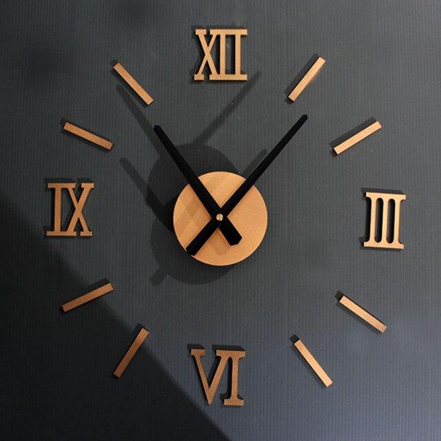 Creative DIY Jam Dinding Desain Moderen Sederhana Jam Romawi Kuarsa Eropa  Retro Gaya Dinding Jam Tangan 6b6245b7b0