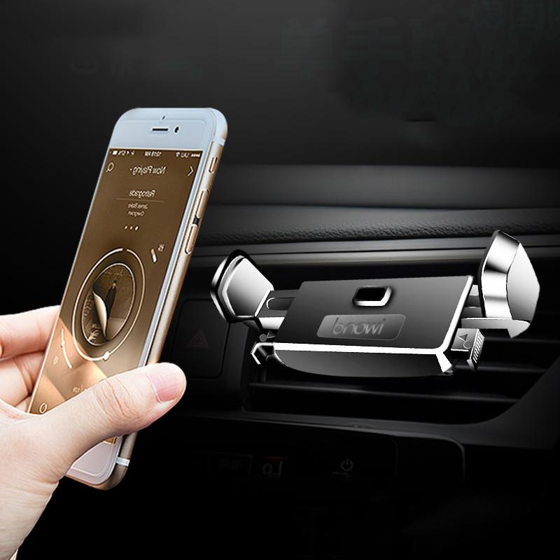 TEAMYO Car Phone Holder For iPhone X 8 7 6S Samsung s9 s8 Huawei Xiaomi mi 8 Car Phone Holder 360 Rotation Mobile Phone Stand