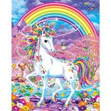 Единорог ручной работы Краска высокого качества Холст Красивая краска ing по номерам Сюрприз подарок большое удовлетворение
