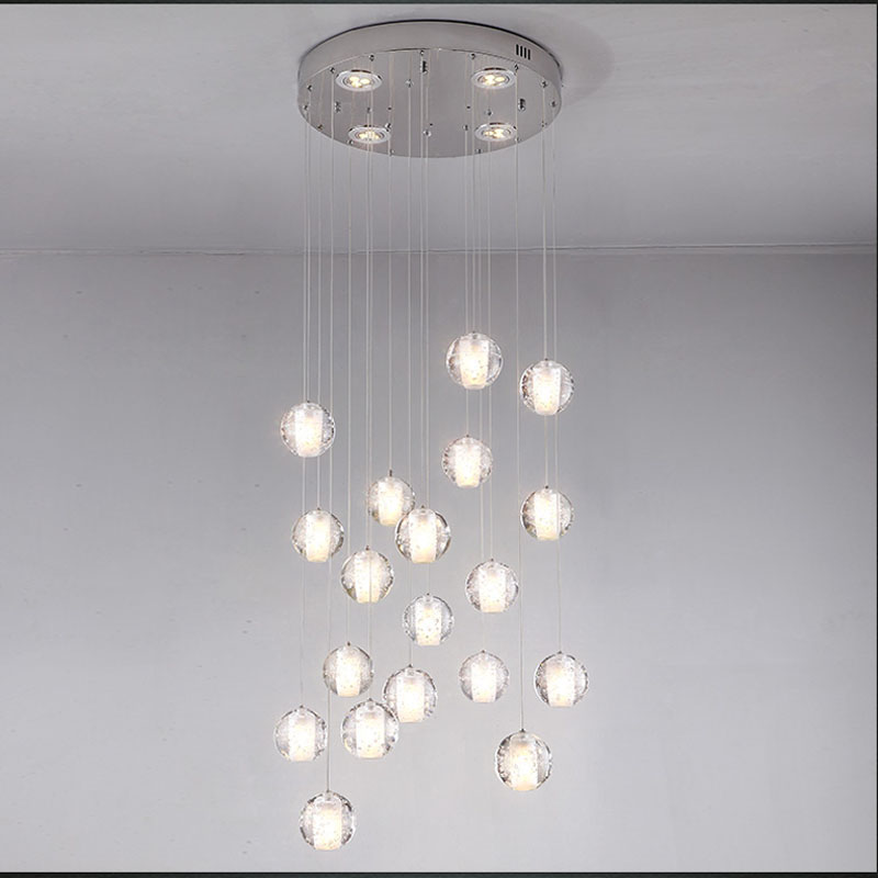 New Design Magic bubble crystal ball pendant lamp Living Room Stair ...